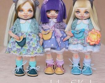 Textile doll textile dolls custom textile Handmade doll Fabric doll Rose doll Soft doll Cloth doll Collectable doll Rag doll Interior doll