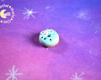 Food Necklace, Doughnut Charm, Polymer Clay Charm, Kawaii Jewelry, Food Jewelry, Fairy Kei Jewelry, Lolita Jewelry, Kawaii Kei, Mini Food