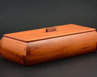 Pencil Pen box made from Cherry with Walnut accents wood