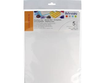 5 x white shrink plastic sheets - 21.5 x 28 cm - Artemio - Ref 14090020 - until the stock!