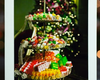 Christmas Candy Photo Christmas Card