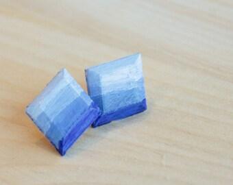 Niobium Post Earrings -Painted - Hypoallergenic Earrings for Sensitive Ears / Nickel Free Stud Earrings