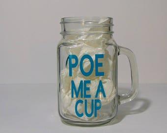 Edgar Allan Poe Mason jar