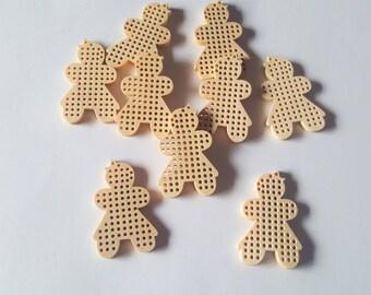 Wooden cross stitch pendant, Cross stitch pendant, Make your own cross stitch, Cross stitch, Cross stitch accessory, Wooden pendant