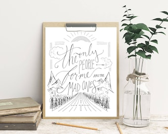 Inspirational quote art print mary oliver wild and