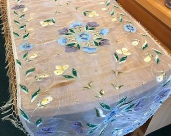 Floral Sheer Table Runner