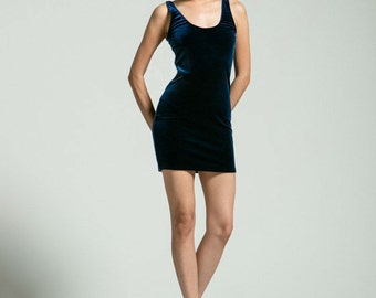 Midnight Blue Bodycon Dress - Free Shipping