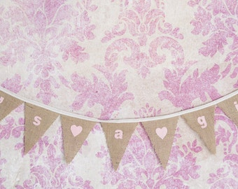 It's A Girl! Bunting perfect for a Christening, Baby Shower or New Baby Gift