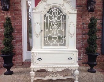 Stunning Antique China Cabinet, Example of Our Work, Contact to See Similar in Stock Pieces