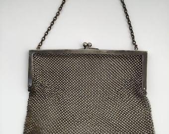 Antique steel mesh purse