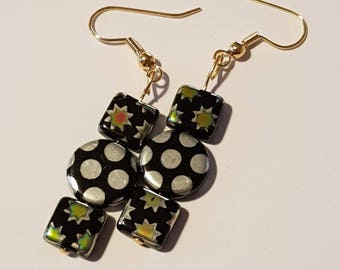 Star and polka dot earrings