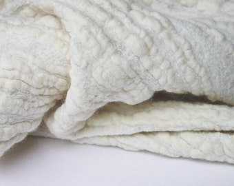 """Nunofelt flame fabric by the yard, 35"""" width 300 g / m2 NATURAL  COLOR"""