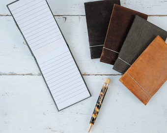 Leather Pocket Notebook - by ClaireMagnolia