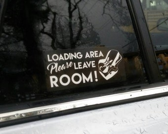 Car seat loading area please leave room sticker decal for car