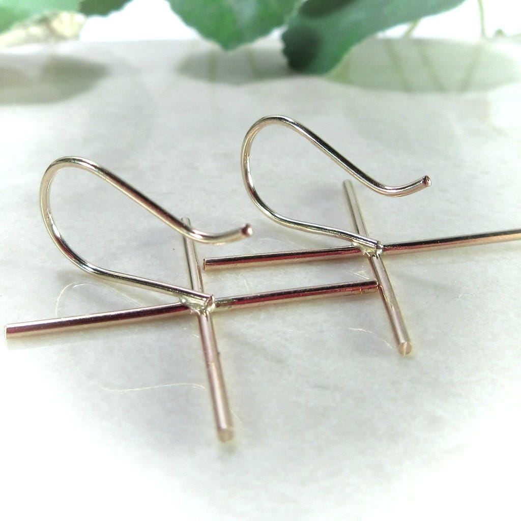 Claw French Earring Wire Blanks Gold Filled Plain 20 gauge - Claw ...