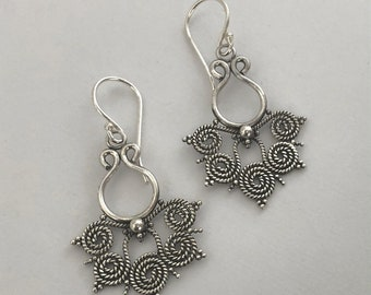 Filigree Earrings Balinese Sterling Silver Bali Jewelry