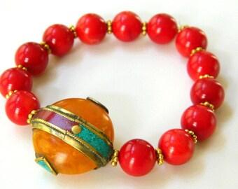 Bracelets for Women Beaded Bracelet Gift for Women Gemstone Bracelet Gift for Her Stretch Bracelet Gemstone Jewelry for a Gift Amber Jewelry