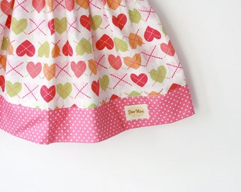 Valentine Heart skirt, Baby skirt, toddler skirt, pink heart skirt, valentine day gift