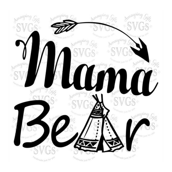 Svg Mama Bear Dxf Eps Camping Design Scout Mom