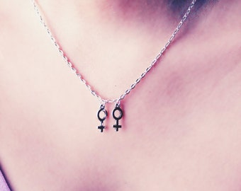 Lesbian necklace- marriage equality necklace