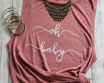 Oh Baby Shirt, Pregnancy Announcement Shirt, Pregnancy Shirt, Pregnancy Reveal, Pregnancy Reveal Shirt, Baby Announcement Shirt