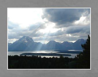 Grand Teton National Park, Signal Mountain, Landscape Print, Photography, Digital Download