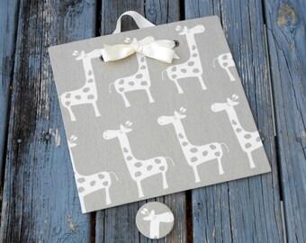 Giraffe Nursery, Magnetic Board, Gender Neutral, Giraffe Wall Decor, Magnet Memory Board, Memo Board, Nursery Organizer, Picture Board