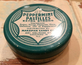 Vintage - Peppermint Candy Tin - Chicago, IL - 1950's