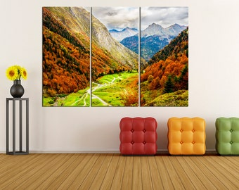 nature autumn forest wall art canvas print, extra large wall art, fine art print, large canvas art, fine art print wall decoration,  uc49