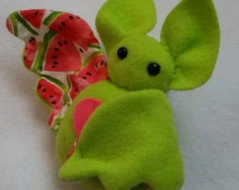 Watermelon Fruit Bat Plush