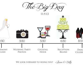 Wedding Guest Schedule/Timeline - Custom & Printable