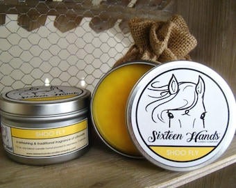 SHOO FLY - Gifts For Equestrains - Citronella Candles - Gifts For Horse Lovers - Equestrian Gifts - Horse Candles