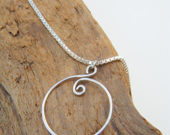 Swirls of Silver Necklace