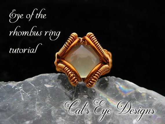 Wire Wrap Tutorial DIY Wire Wrapping Eye of the Rhombus Heady Ring