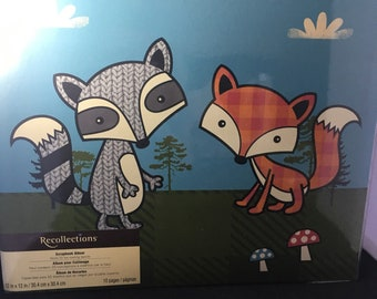 Raccoon and Fox Scrapbook by Recollections 12x12