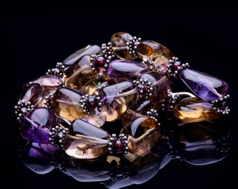 AMETHYST Nuggets one of a kind necklace: