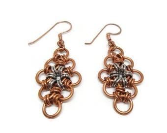 Copper & Steel Earrings
