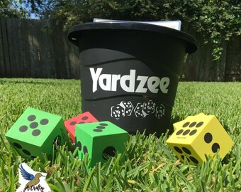 Yardzee Outdoor Game Dice Game Yahtzee Lawn Game Family Summer Game Night Sports