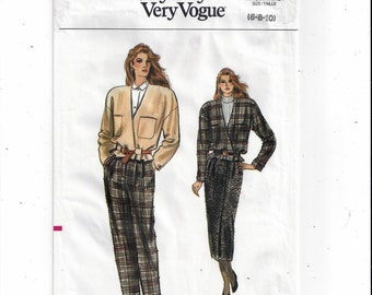 Vogue 9979 Pattern for Misses' Jacket, Skirt, Pants, Sizes 6, 8, 10, Very Easy, FACTORY FOLDED, UNCUT, From 1987, Home Fashion Sewing