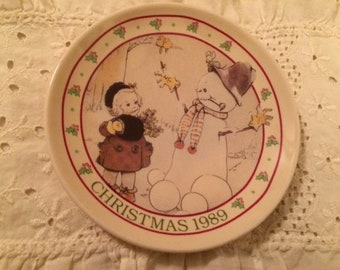 Enesco Mabel Lucie Attwell Small Christmas Dish