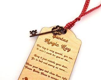 Santa's Magic Key, Christmas Decoration, Tree Decoration, Christmas Decor, Santa's Key, Christmas Quote