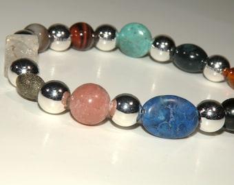 Depression Gemstone Healing Bracelet stretch *FREE SHIPPING USA* 461