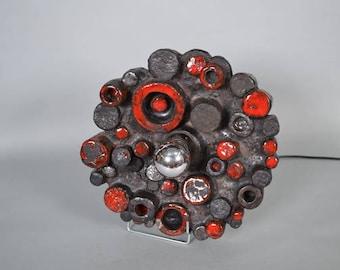 Stunning ceramic Brutalist 70's  design lamp - Germany