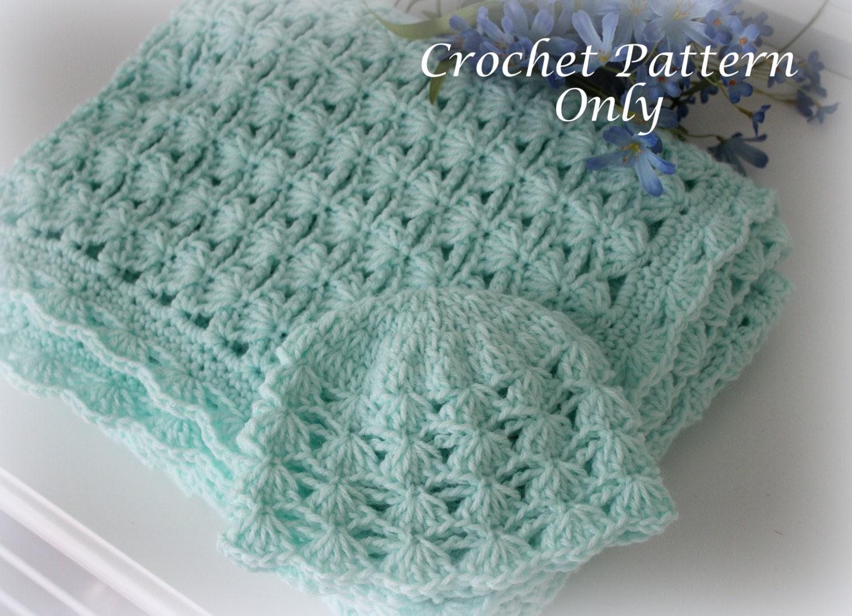 Contemporáneo Shell Patrón Crochet Manta De Bebé Festooning - Ideas ...