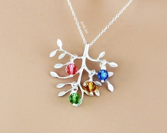 Children birthstones etsy more colors grandmother birthstone necklace aloadofball Images