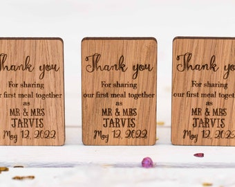 Rustic Wedding Table Decor, Rustic Wedding Favor, Wedding Napkin Ties, Vintage Type Tags, Thank You For Sharing Our first Meal, 29TD
