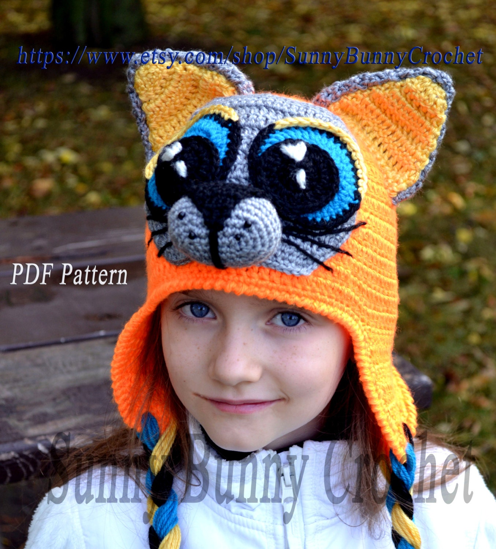childs knit hat pattern ear flaps traits