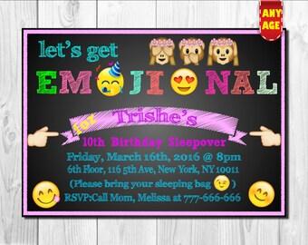 Emoji InvitationEmojis InvitationEmoji Party InvitationSmiley Theme InviteEmoji
