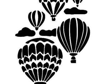 Hot Air Balloon Vinyl Car Decal Bumper Window Sticker Any Color Multiple Sizes Custom Jenuine Crafts