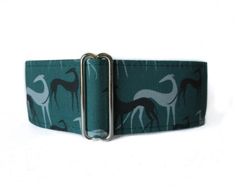 Green Martingale Dog Collar, Greyhound Martingale Collar, Greyhound Dog Collar, Galgo Martingale Collar, Galgo Collar